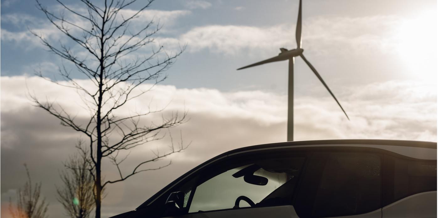 windmolen elektrische auto